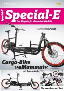 """Sonderdruck der Zeitschrift Special-E übetr das Cargobike """"eMammut"""" - powered by Brose"""