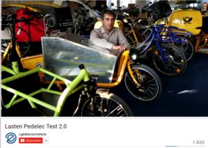 ExtraEnergy Vorsitzender Hannes Neupert im Video über den eCargobike Test 2013