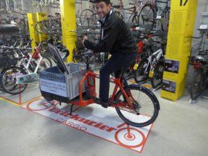 Cargobike-Parkplatz in der Radstation im Bahnhof von Bern