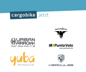 cargobike.jetzt Stand auf BFS, Logos