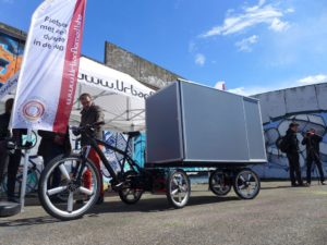 Beim International Cargo Bike Festival 2016 in Nijmegen: Prototyp des TortugaXL von The Opportunity Factory