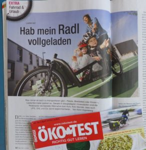 Cargobike-Beitrag in Ökotest April/2016