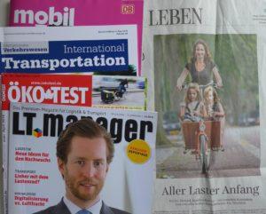 Cargobike-Presseschau Frühjahr 2016