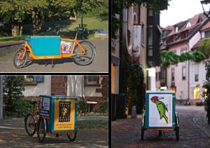 Der Fuhrpark von LastenVelo Freiburg besteht aus Bullitts und Christianias