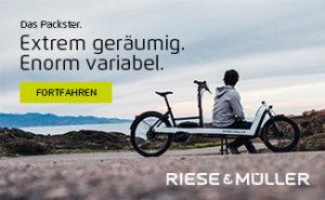 Banner Riese & Müller auf cargobike.jetzt