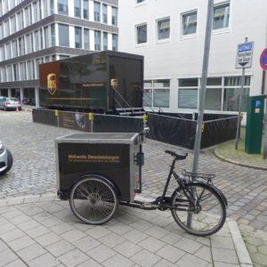 UPS-Mikrodepot in Hamburg, Foto cargobike.jetzt