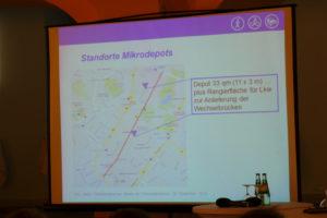 Präsentation Michael Münter, Mikrodepot-Standorte UPS in Stuttgart, Foto cargobike.jetzt