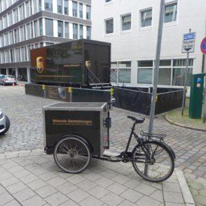 UPS-Zustellung in der Hamburger Innenstadt, Photo: cargobike.jetzt