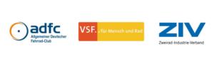 Die Fahrradverbände ADFC, VSF und ZIV